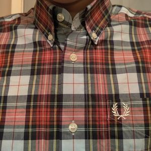 Fred Perry Plaid Button Down Shirt